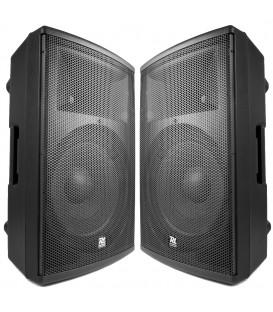 "Set aanbieding 2 stuks Bi-amp. actieve speaker 12"" 1400W PD412A"
