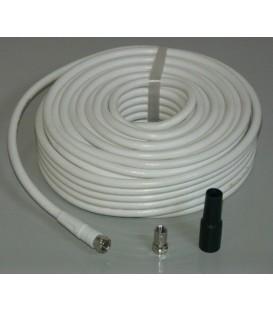 Coaxkabel 10 m + 2 X F-con.