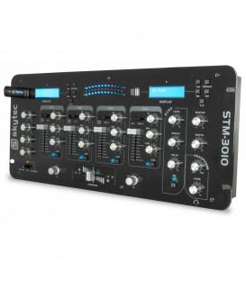 """4-Kanaals DJ Mixer met USB/MP3  19"""" 4HE STM-3010"""