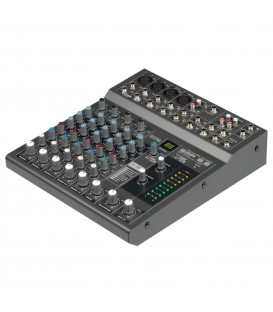 "Compact PA Mixer 4 Mono IN + 2 Stereo IN 19"" Rack SMP 8.2 SYNQ"