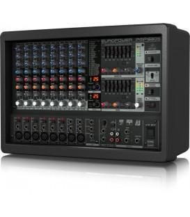 10-KANAALS POWERMIXER 1600watt BERHINGER EUROPOWER PMP1680S