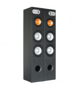 "Tower 2x 8"" + 1x 6,5"" 2 x 250watt Zwart Per Set  2 st. Skytronic"