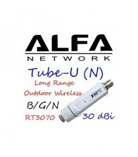 TUBE U (N) LUX-X WI-FI USB ADAPTER + ANT 9 dBi Alfa Network