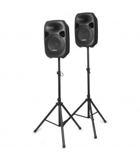 "Actieve Speakerset 12"" incl. Stands en Kabel Vonyx SPS122"