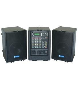 Mobiele geluidset USB/SD/MP3 2x 300W Skytec PA-100USB