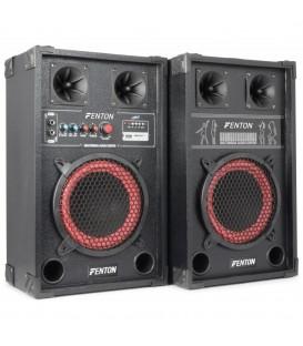 """PA Actieve Speakerset 8"""" USB SD 400watt Set 2 st. SPB-8 PA"""