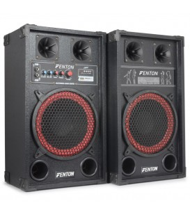 "PA Actieve Speakerset 10"" USB SD 600watt Set 2st. SPB-10 PA"