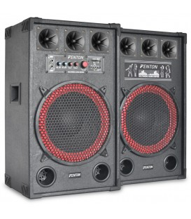 "PA Actieve Speakerset 12"" USB SD 800watt Set 2st. SPB-12 PA"