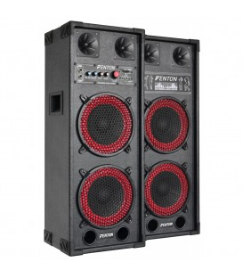 "PA Actieve Speakerset 2x 8"" USB SD 800watt SPB-28"