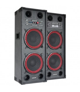 "PA Actieve Speakerset 2x 10"" USB SD 1200watt SPB-210"