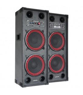 """PA Actieve Speakerset 2x 10"""" USB SD 1200watt SPB-210"""