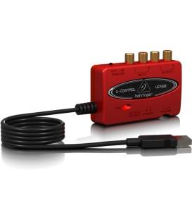 USB GELUIDSKAART  2 IN- EN 2 UITGANGEN BEHRINGER  UCA222