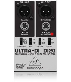 ULTRA-DI PRO DI20 Actieve 2 kanaal DI-Box/Splitter Behringer