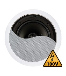 "Plafondspeaker 100V / 8 Ohm 8"" 120W Power Dynamics CSPT8"