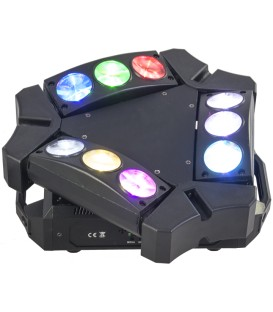 IBIZA LIGHT 9BEAM-MINI SPIDER 3x3 10watt CREE LEDS