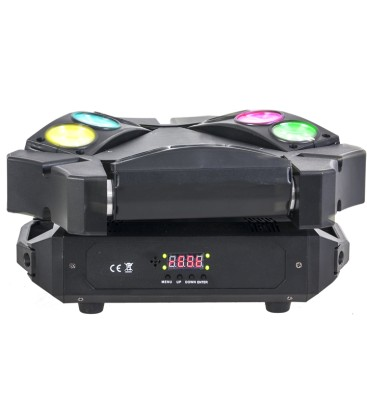 IBIZA LIGHT 9BEAM-MINI SPIDER 3x3 10watt CREE LEDS