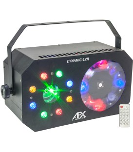 AFX DYNAMIC-LZR 3-IN-1 LED MOONFLOWER GOBO+ WASH+STROBE+LASER