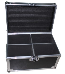 Flightcase voor 4 stuks Moving Head AFX, beamZ, Party, IBIZA FC4350