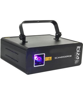 Animatie Laser IBIZA SCAN2000RGB 2000mW RGB met DMX / ILDA / IRC