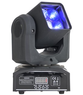 MINI BEAM RGBW LED MOVING HEAD 40W MET ZOOM 10-60° IBIZA LMH410Z