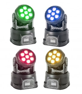 4 X PARTY WASH MOVING HEAD 7x8W RGBW PARTY-WASH7