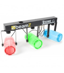 3-Some Lichtset 3x 57 RGBW LED's Clear BeamZ