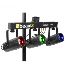 3-Some Lichtset 3x 57 RGBW LED's DMX beamZ