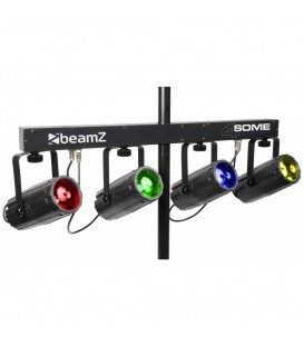 4-Some Lichtset 4x 57 RGBW LED's DMX beamZ