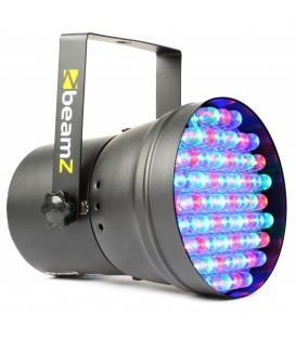 PAR36 Spot DMX 55 RGB 10mm LEDÂ's - Zwart beamZ 151.148