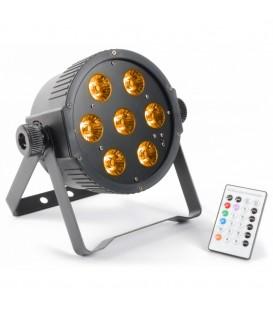 LED FlatPAR 7x 15W RGBAW LED's DMX IR BeamZ