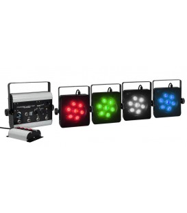 POWER LED PARBAR 4 x 7 TRI COLOR LED + DMX Controller 4 GLS-47-M