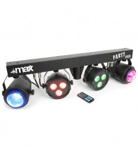 MAX PARTYBAR met 2x RGBW LED Spot en 2x Jellymoon incl. statief