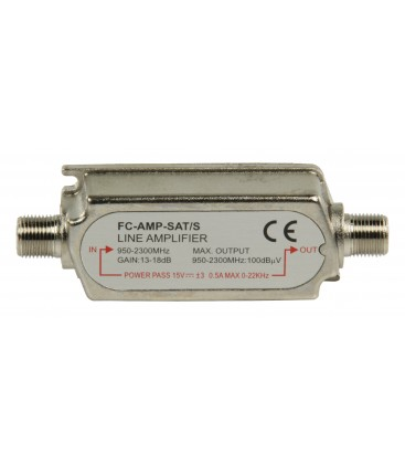 In-Line Sat versterker + 13 à 18 dB