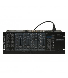 6 Kanaals DJ/Horeca Mixer MIX6usb JB SYSTEMS