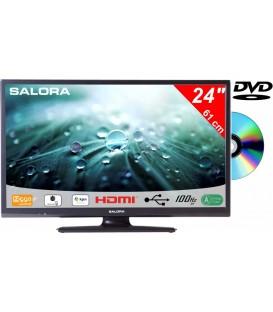 Salora 24LED9109CTS2 DVD 24inch DVB-C/T2/S2 + DVD 12/230V