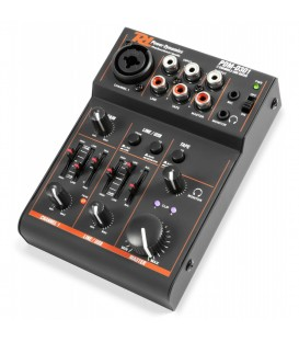 3-Kanaals USB Mixer Power Dynamics PDM-D301
