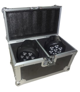 Flightcase voor 2 stuks Moving Head AFX, beamZ, Party, IBIZA FC2350