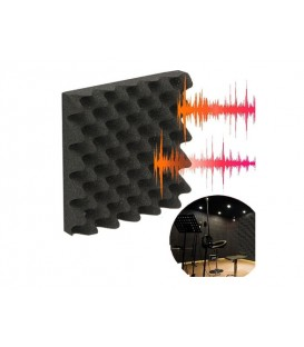 Flanders Studiofoam Sonopanel EGG 50x50x2cm zwart