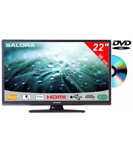 Salora 22LED9109CTS2 DVD 22inch DVB-C/T2/S2 + DVD 12/230V