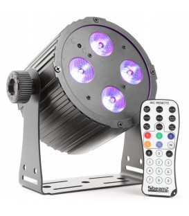 Aluminum LED spot 4x 18W 6-in-1 LEDs BAC404