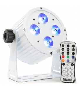 Aluminium LED Spot 4x 18W 6-in-1 LED's BAC404W