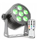 Aluminum LED spot 6x 18W 6-in-1 LEDs BAC406