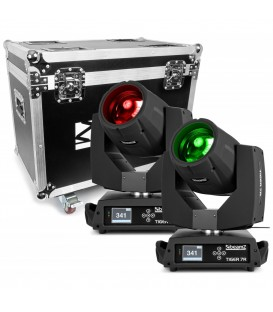 Tiger 7R Hybrid Moving head set 2 stuks in Flightcase BeamZ Professional