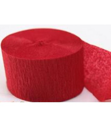 Confetti Tissue Streamers Rood 2cmX5m 24 stuks ECO ProStage