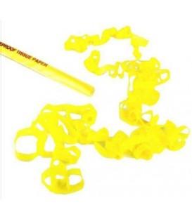 Confetti Tissue Streamers Geel 2cmX5m 24 stuks ECO ProStage