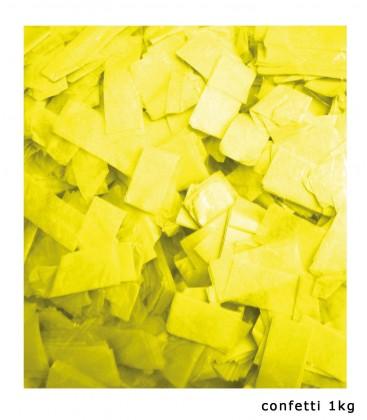 Tissue Slow Fall Confetti Geel ECO 2x5cm 1Kg ProStage