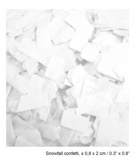 Tissue Slow Fall Confetti Sneeuwstorm ECO 2x0,8cm 1Kg ProStage