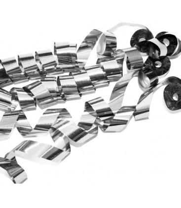 Confetti Streamers Zilver Metalic 2cmX10m 20 stuks ProStage