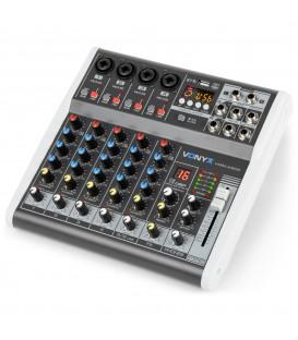 6-Kanaals Muziek Mixer met DSP Vonyx VMM-K602