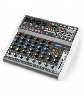8-Kanaals Muziek Mixer met DSP Vonyx VMM-K802